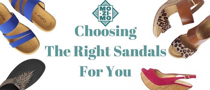 Choosing the right sandals