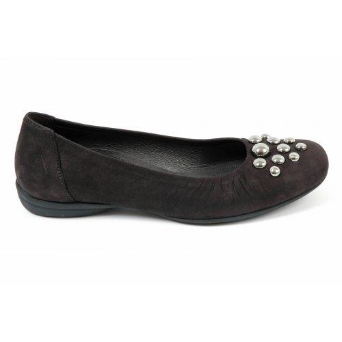 Women's Shoes Gabor Julie ballet pumps in black nubuck