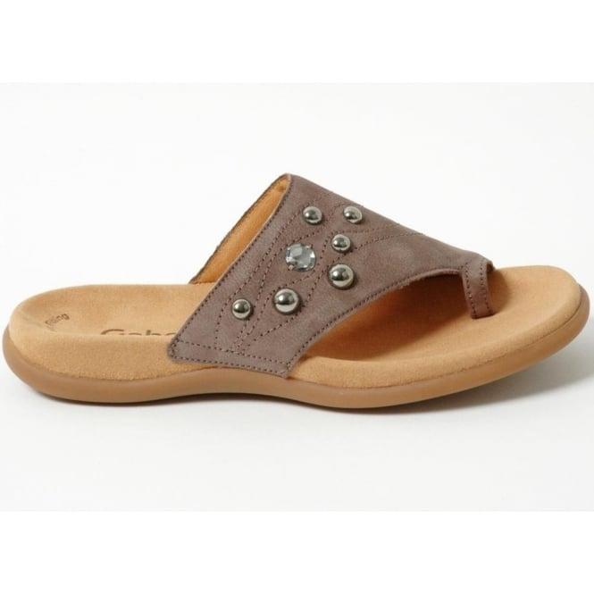 Shoes|Low Shoes Tilda womens toe-loop mule in taupe