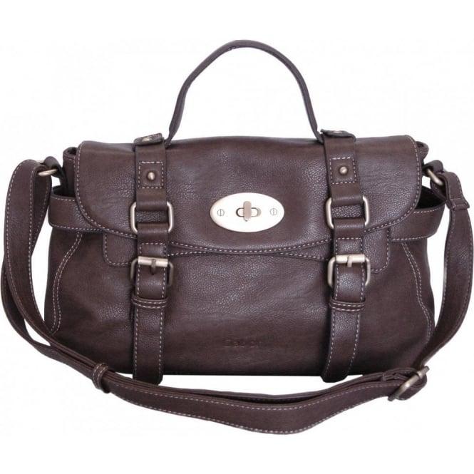 Handbags Low Shoes Luisa satchel handbag in taupe