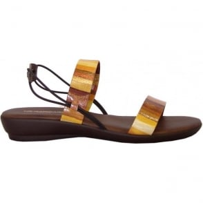 Rapi 9286 sling back sandals in yellow rainbow