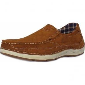 Marshall Men's Slip-On Boat Shoes in Tan