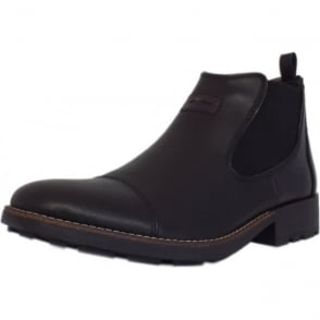 Luther Men's Winter Pull On Chelsea Boots in Black