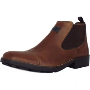 Luther Men's Winter Pull On Chelsea Boots in Tabak