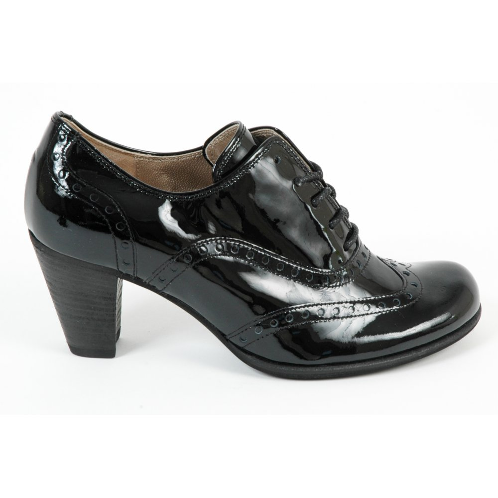 Gabor Ladies Girona Women S Shoe In Black Patent