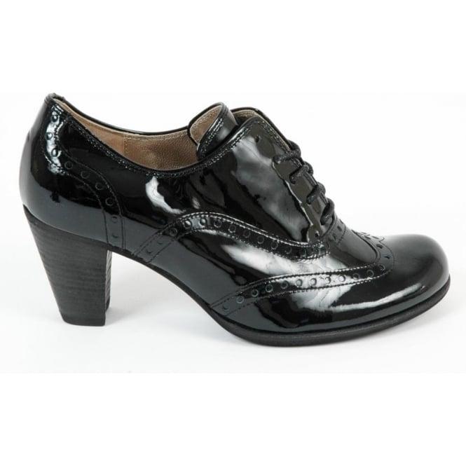 ladies black patent brogue shoes cheap