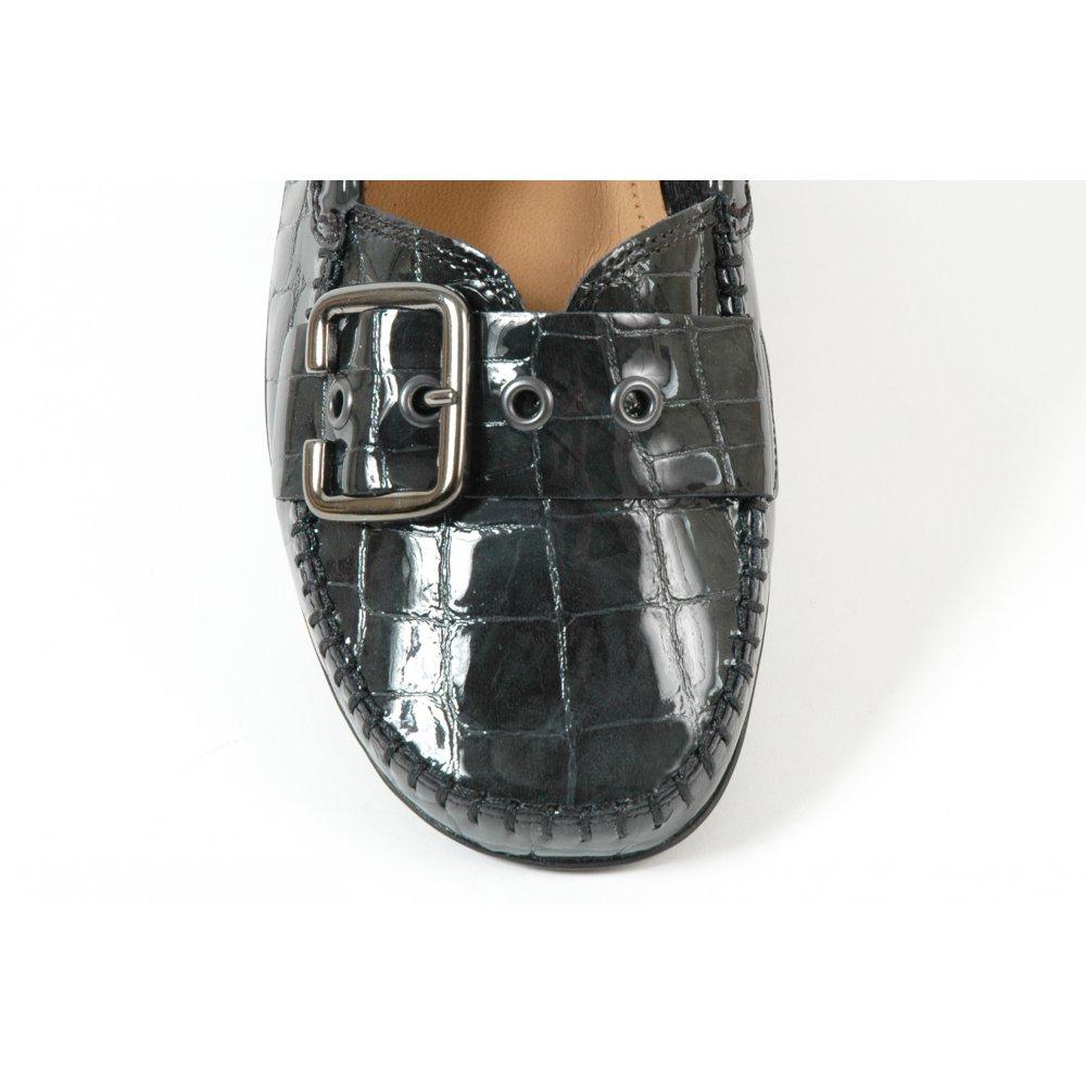 Ascari Slip On Shoe In Silver