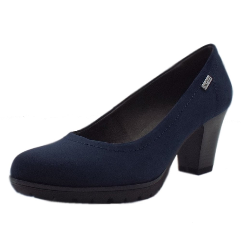 Women's Navy Court Shoes Wide Fit
