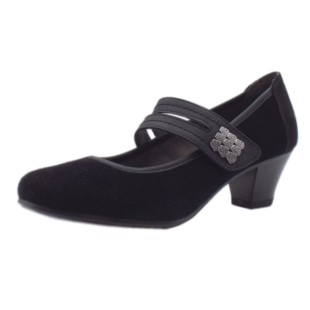 Women's Mary-Jane Wide Fit Black Shoes