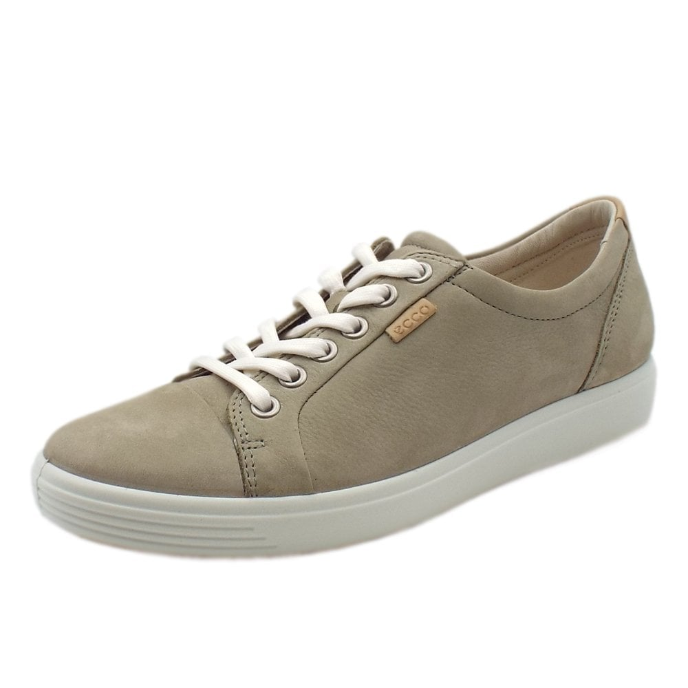 04cd92325052c Ecco Soft 7   Women's Leather Sneakers in Sage   Mozimo