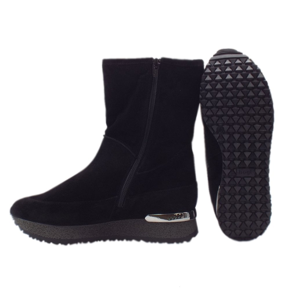 new design ever popular outlet on sale Hogl Gore-Tex Boots | 6-10 0712 0100 | Tirolia in Black Suede | Mozimo