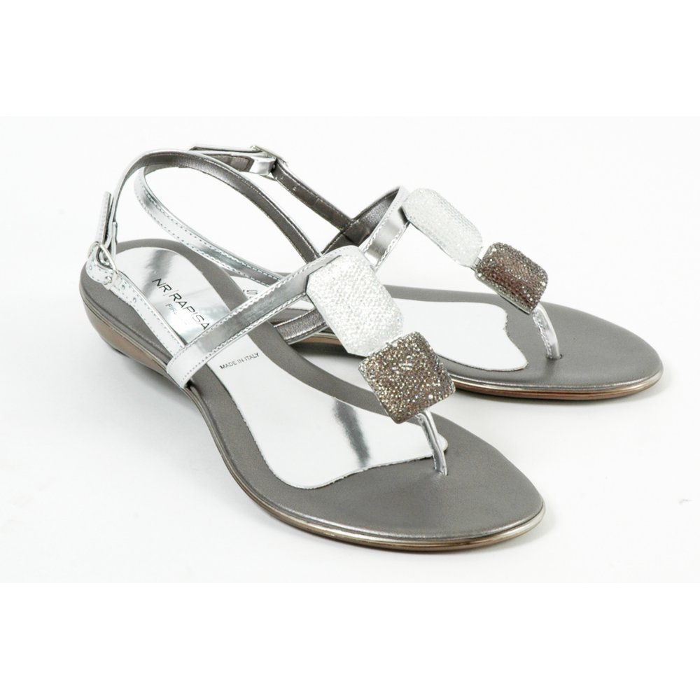 Nr Rapisardi 7714 Designer Italian Sandals Toe Post