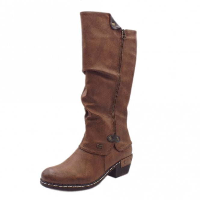 Rieker 93655-26 Eclipse RiekerTEX Fashion Long Boots in Tan
