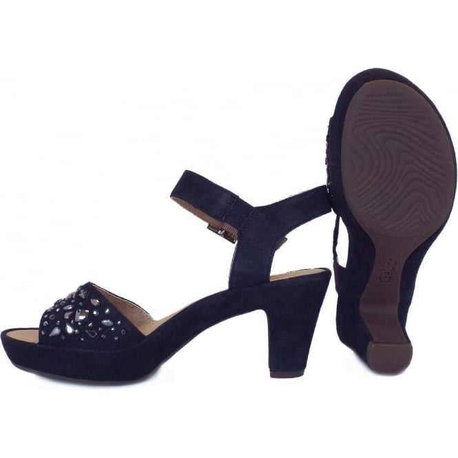 navy high heel sandals uk