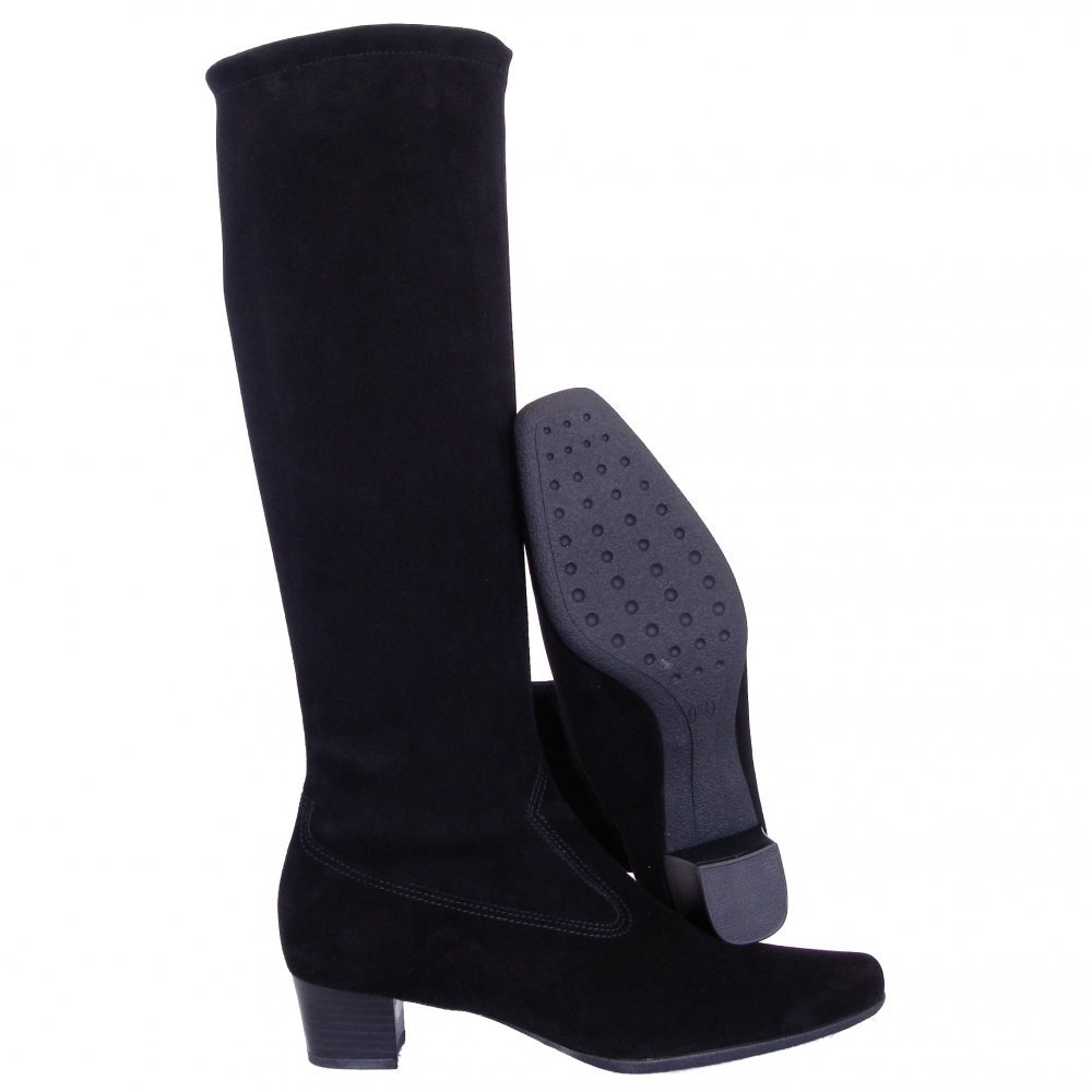 kaiser aila pull on stretch suede boots mozimo
