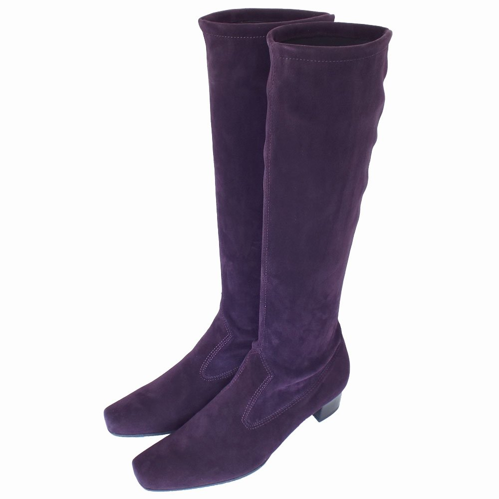 kaiser aila pull on stretch suede grape purple