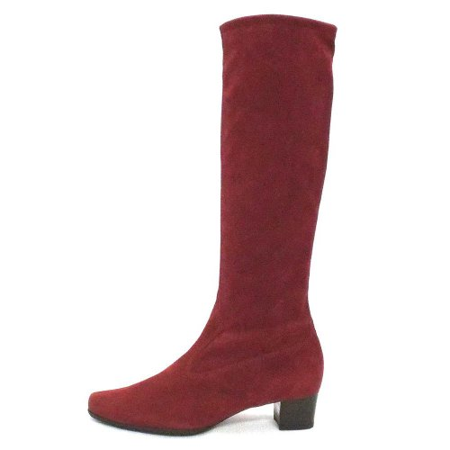 timeless design bbe62 d1e85 Peter Kaiser Aila Pull On Knee High Stretch Boots in Merlot Suede