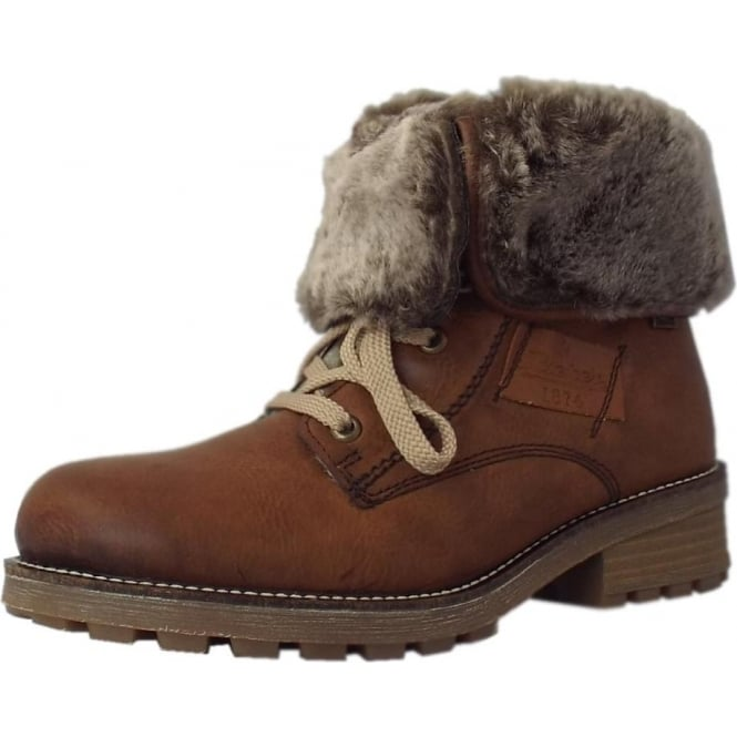 enjoy best price durable in use colours and striking Rieker Alaska Fleece Lined Ankle Boots in Brown