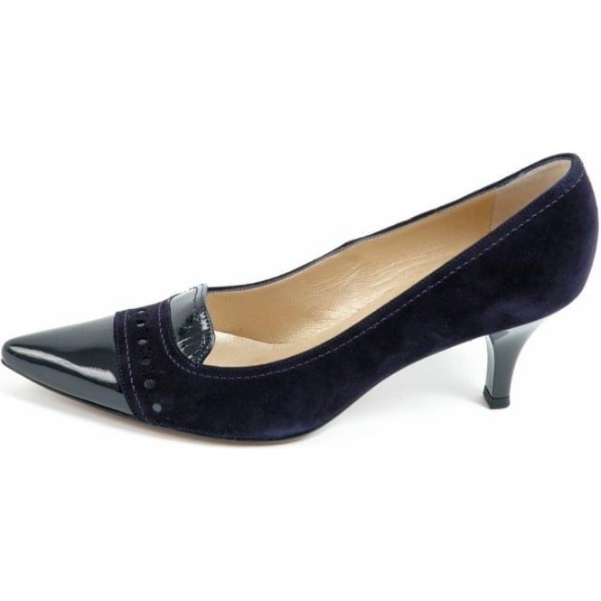 Peter Kasier Alessandra kitten heel pointy toe shoes in navy ...