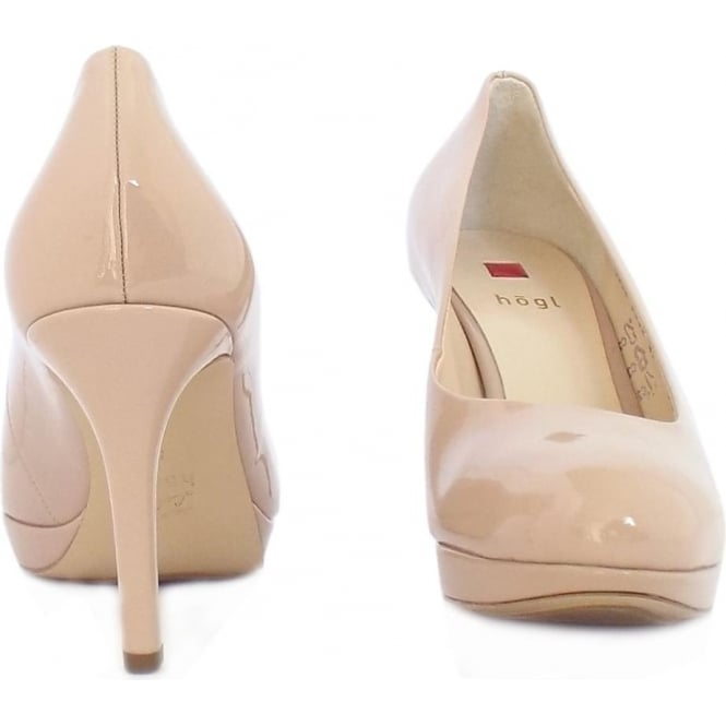 6da626b9d3a Högl Alpraham Women's Classic High Heel Court Shoes in Nude Patent