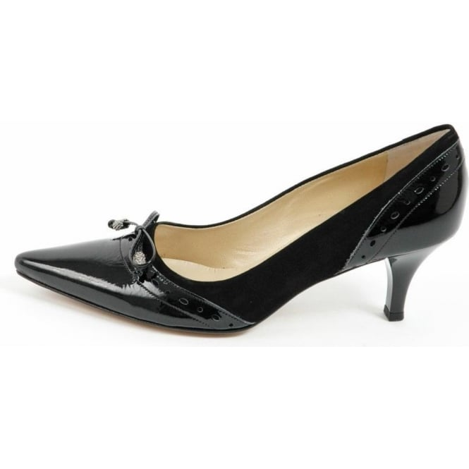 Peter Kaiser Ameli kitten heel court shoes in black | Medium heel ...