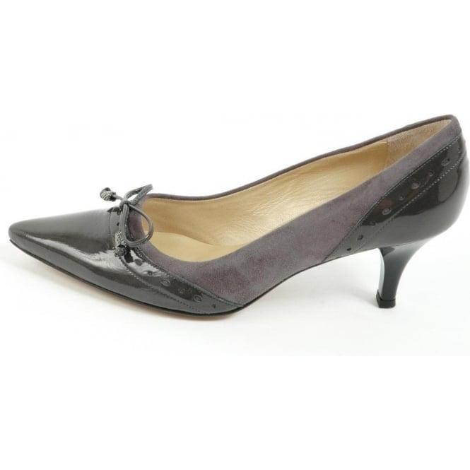 Peter Kaiser Ameli kitten heel court shoes in steel grey | Medium ...