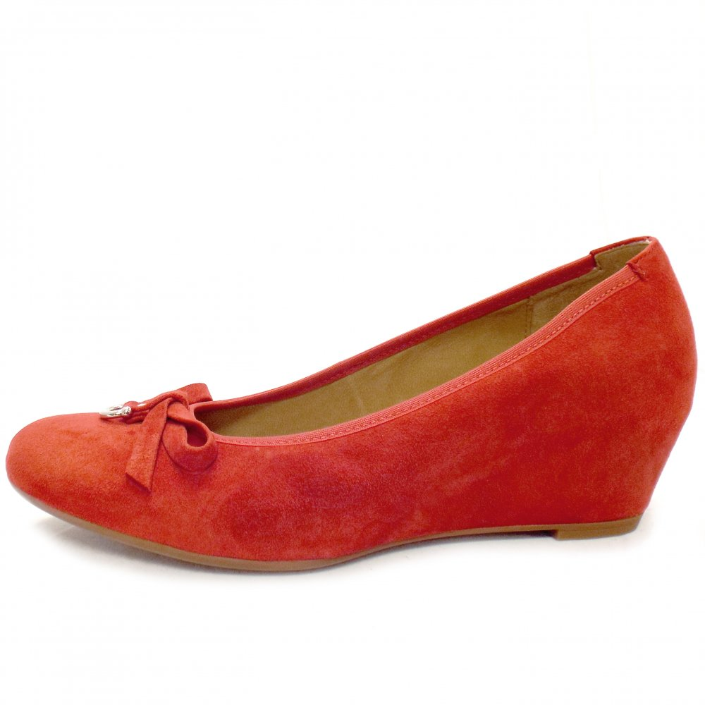 gabor shoes amorette suede wedges mozimo