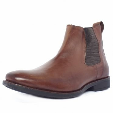 Colombo Men's Chelsea Style Pull On Boots in Coffee Brown