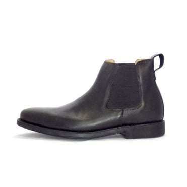 Cunha Mens Pull on Boots In Black