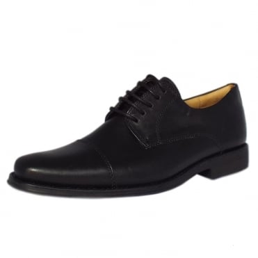 Fama Men's Smart Shoes in Black Leather