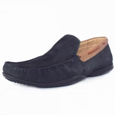 Anatomic&Co Itatiba Men's Slip On Casual Loafers in Navy Suede