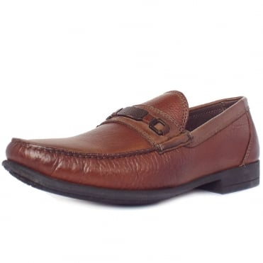 Lins Mens Comfortable Smart Casual Loafers in Brown