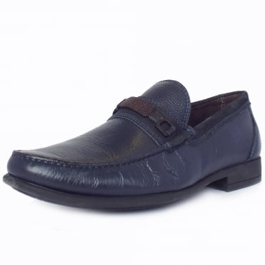 Lins Mens Comfortable Smart Casual Loafers in Navy
