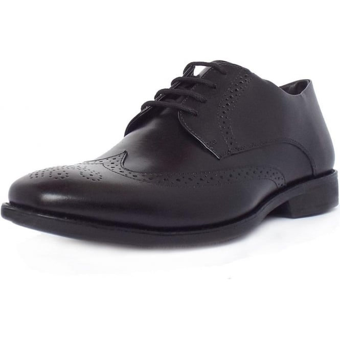 Anatomic&Co Mococa Men's Brogue Shoes in Black Leather