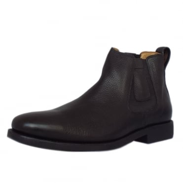 Natal Classic Mens Pull-on Black Leather Chelsea Boot