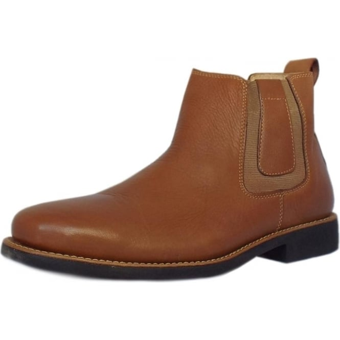 Anatomic&Co Natal Classic Mens Pull-on Brown Leather Chelsea Boot