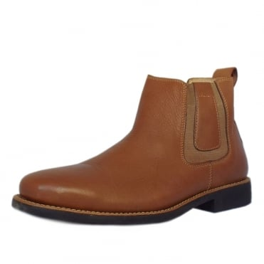 Natal Classic Mens Pull-on Brown Leather Chelsea Boot