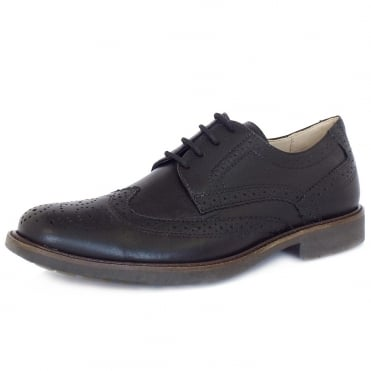 Palma Men's Lace-Up Brogues in Black