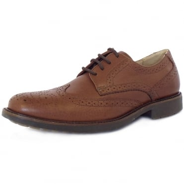 Anatomic&Co Palma Men's Lace-Up Brogues in Brown