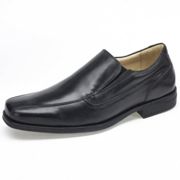 Parisi Mens Slip On Shoes in Black