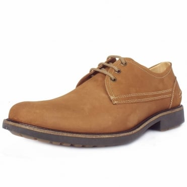 Pinhal Men's Light Brown Nubuck Lace-Up Shoes
