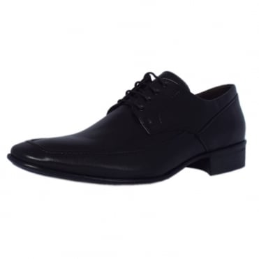 Salvador Mens Lace-up Shoes in Black Leather