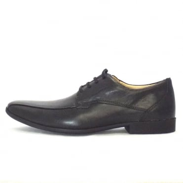Tapua Mens Leather Lace Up Shoe In Black
