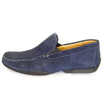 Tavares men's casual loafer in navy suede