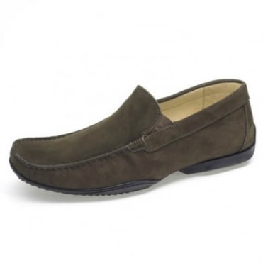 Tavares Mens Slip on Loafer in Olive