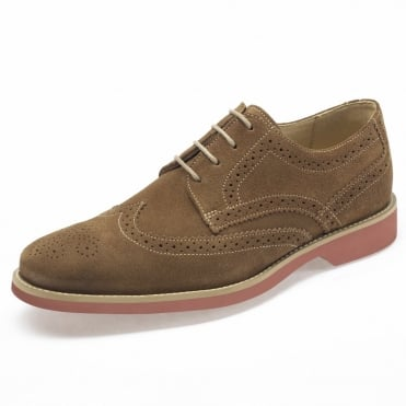 Tucano Mens Suede Brogues in Tan