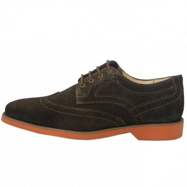 Anatomic&Co Tucano Modern Mens Suede Brogues in Brown