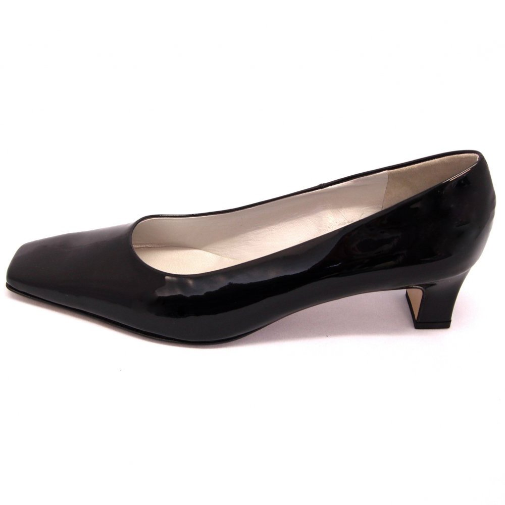 Black Low Heel Shoes - Is Heel