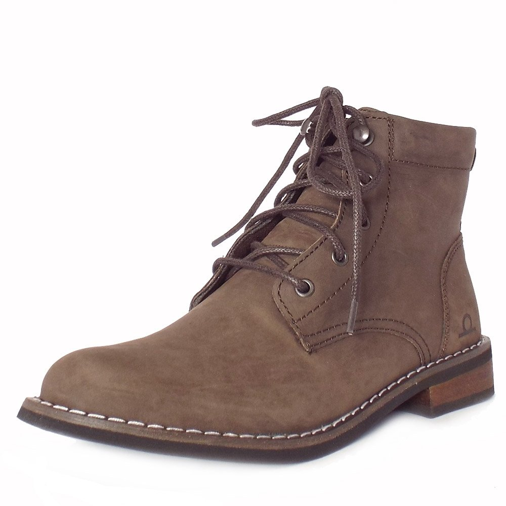 Elegant Zara Womens Brown Distressed Boots SZ 8 Leather Ankle Lace Up Shoes