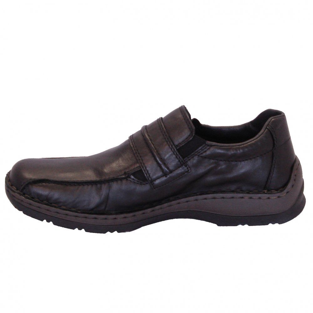 rieker anton mens casual wide fitting shoes in black